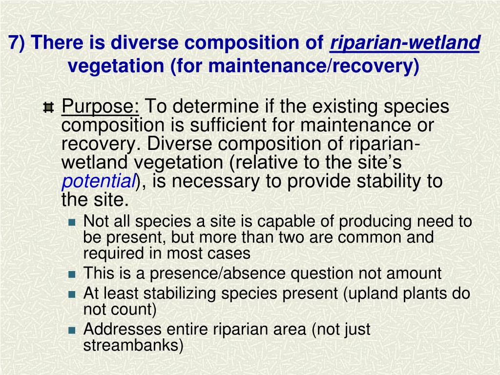 7) There is diverse composition of