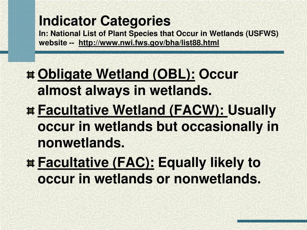 Indicator Categories