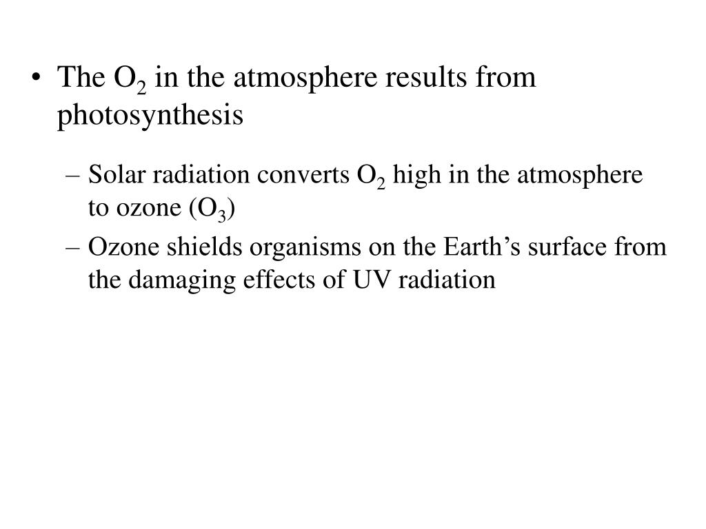 Solar radiation converts O