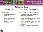 collecting data green up and green down study site