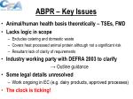 abpr key issues