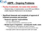 abpr ongoing problems