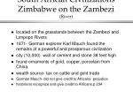 south african civilizations zimbabwe on the zambezi river