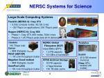 nersc systems for science