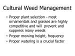 cultural weed management