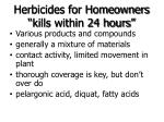 herbicides for homeowners kills within 24 hours