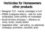 herbicides for homeowners other products