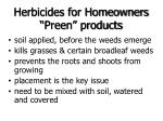herbicides for homeowners preen products