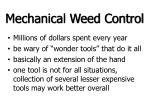 mechanical weed control
