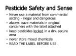 pesticide safety and sense