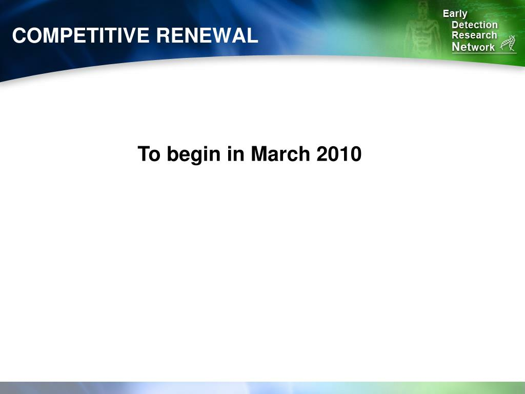 COMPETITIVE RENEWAL