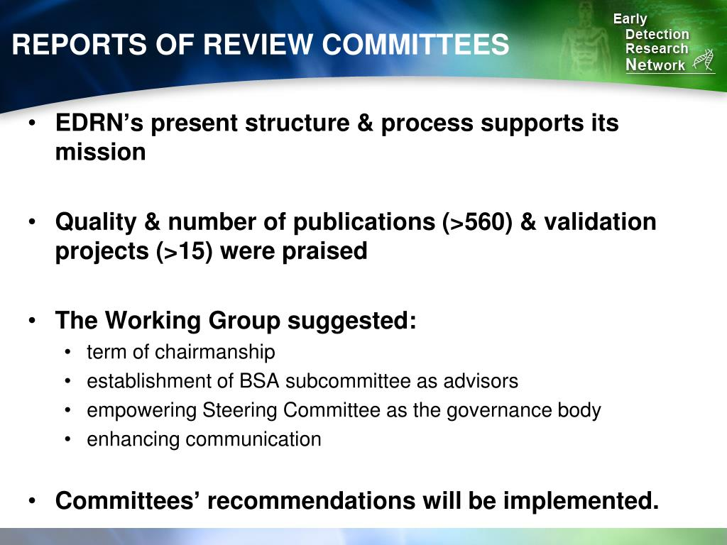 REPORTS OF REVIEW COMMITTEES