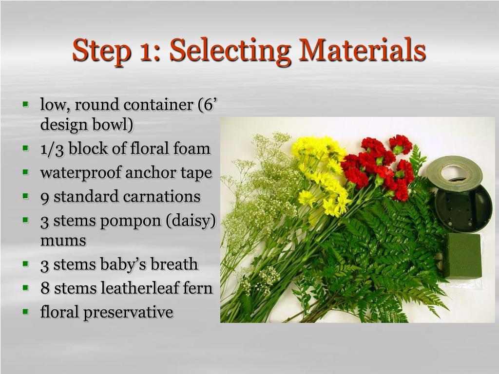 Step 1: Selecting Materials