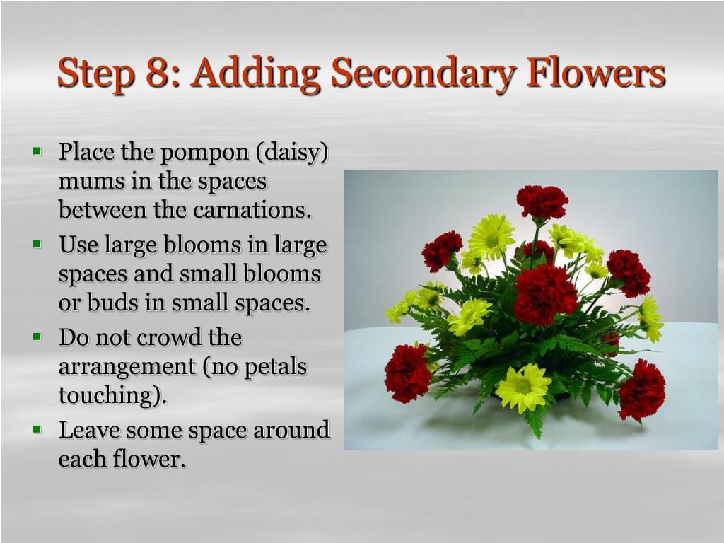 Step 8: Adding Secondary Flowers