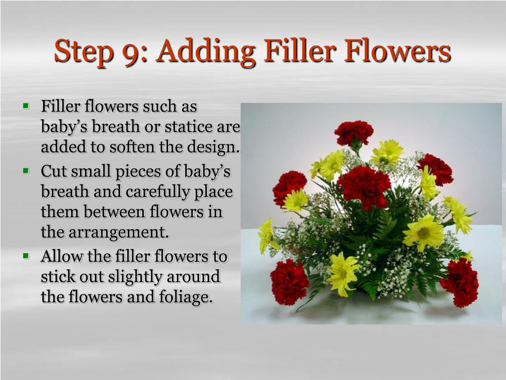 Step 9: Adding Filler Flowers