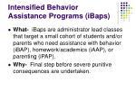 intensified behavior assistance programs ibaps