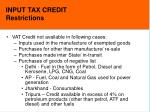 input tax credit restrictions16