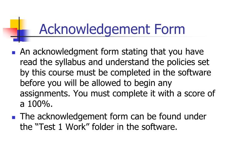 Acknowledgement Form