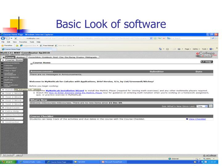 Basic Look of software
