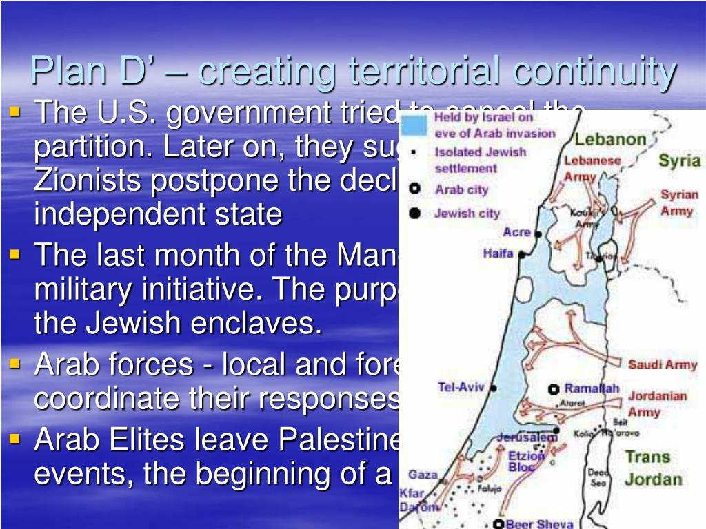 Plan D' – creating territorial continuity