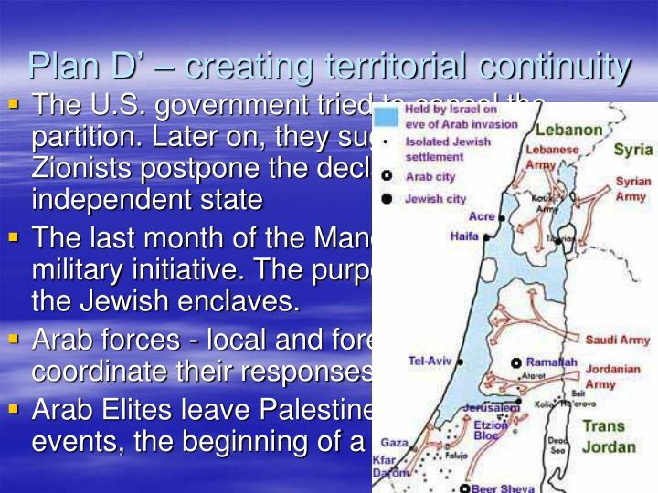 Plan d creating territorial continuity