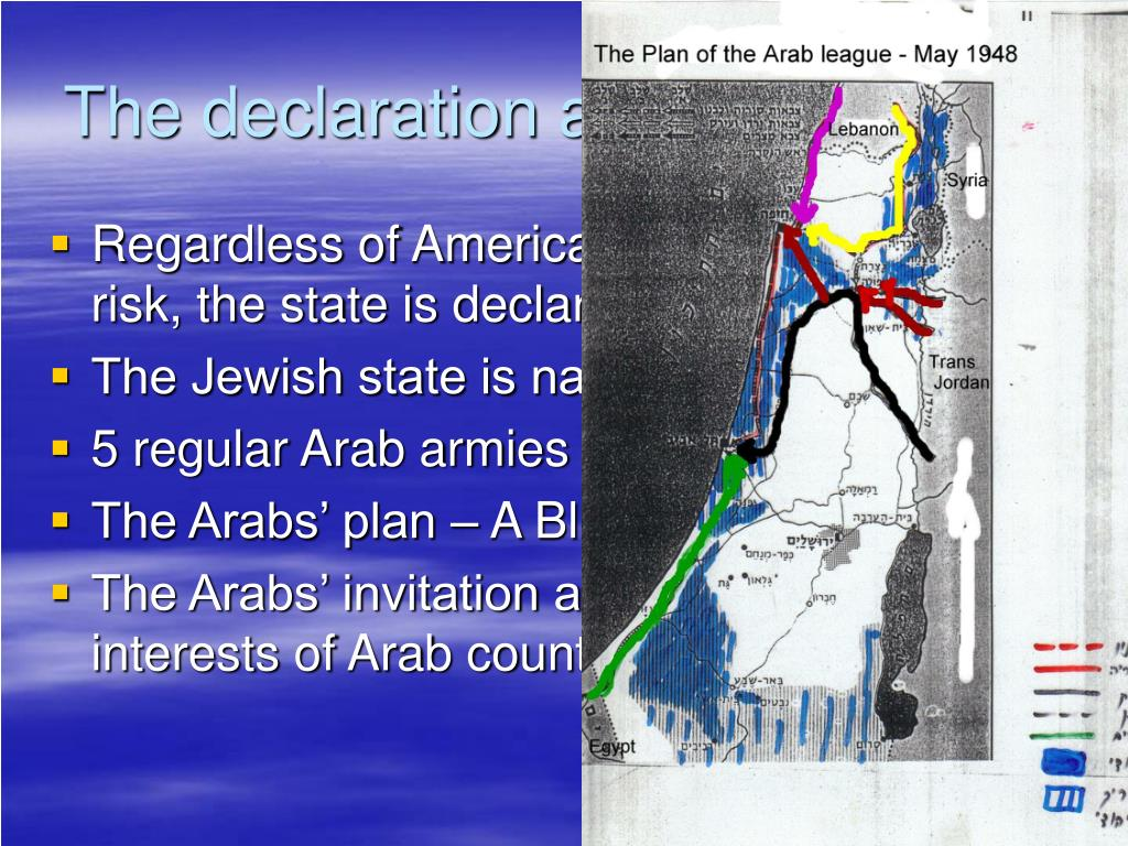 The declaration and the invasion