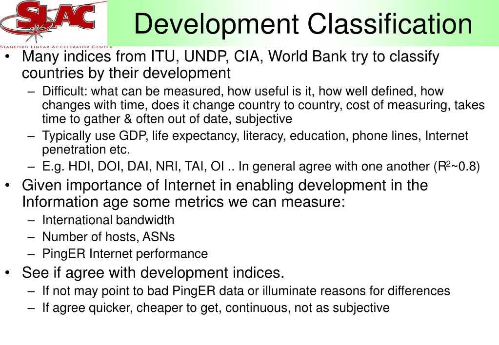 Development Classification