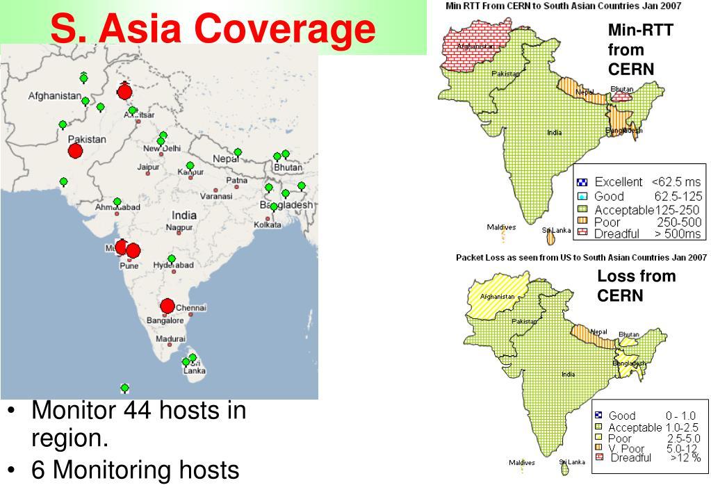 S. Asia Coverage