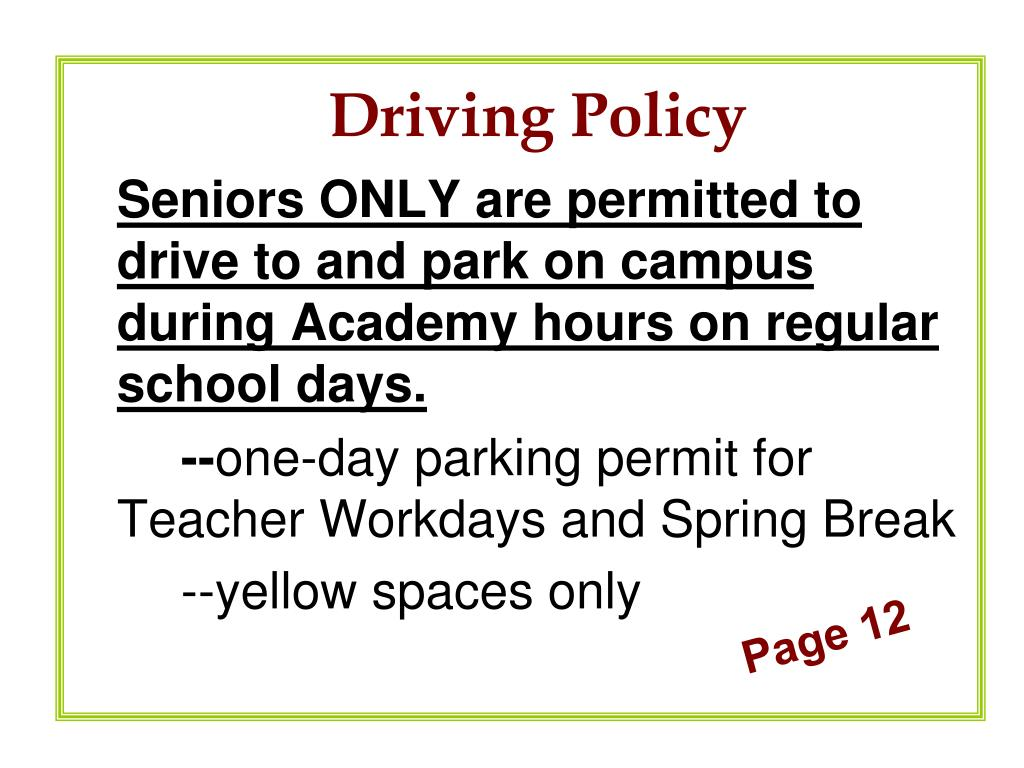 Driving Policy