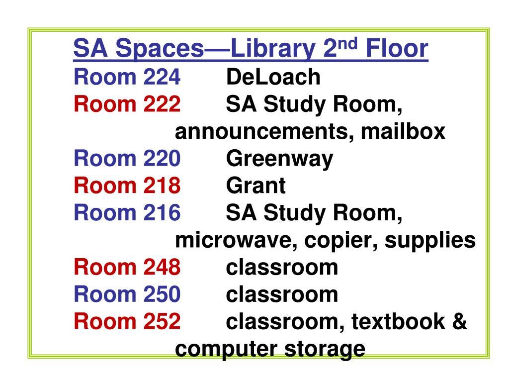 SA Spaces—Library 2