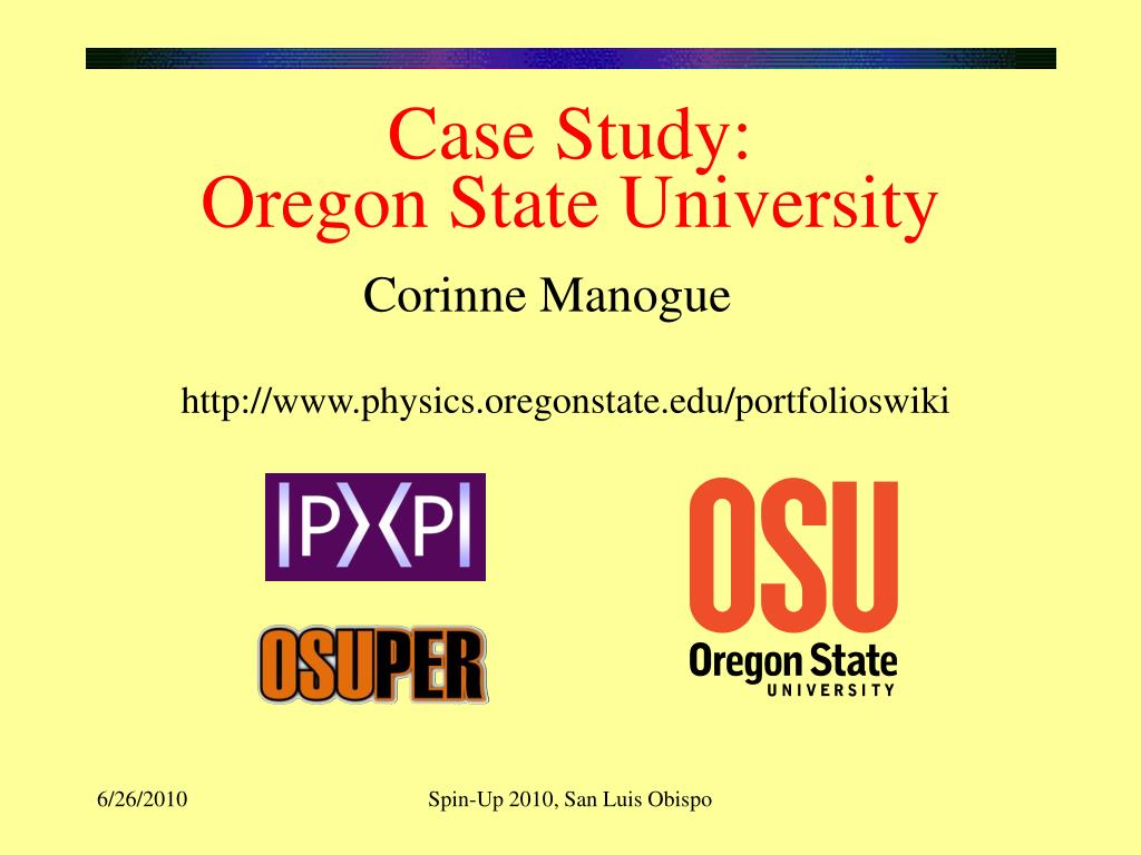 case study oregon state university l.