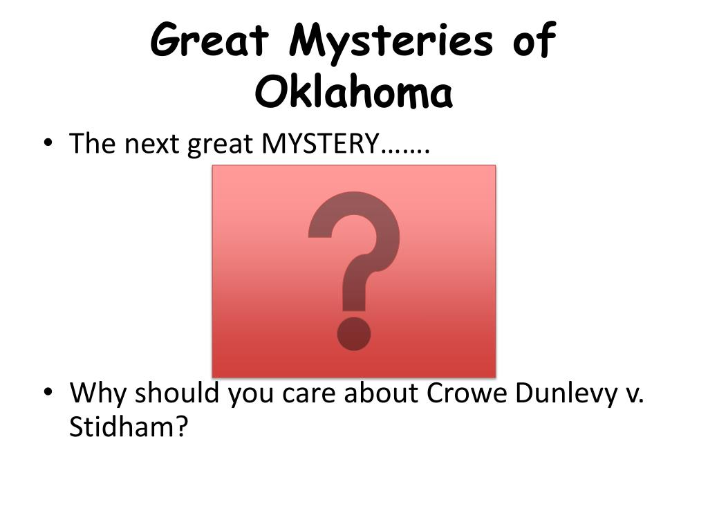 Great Mysteries of Oklahoma