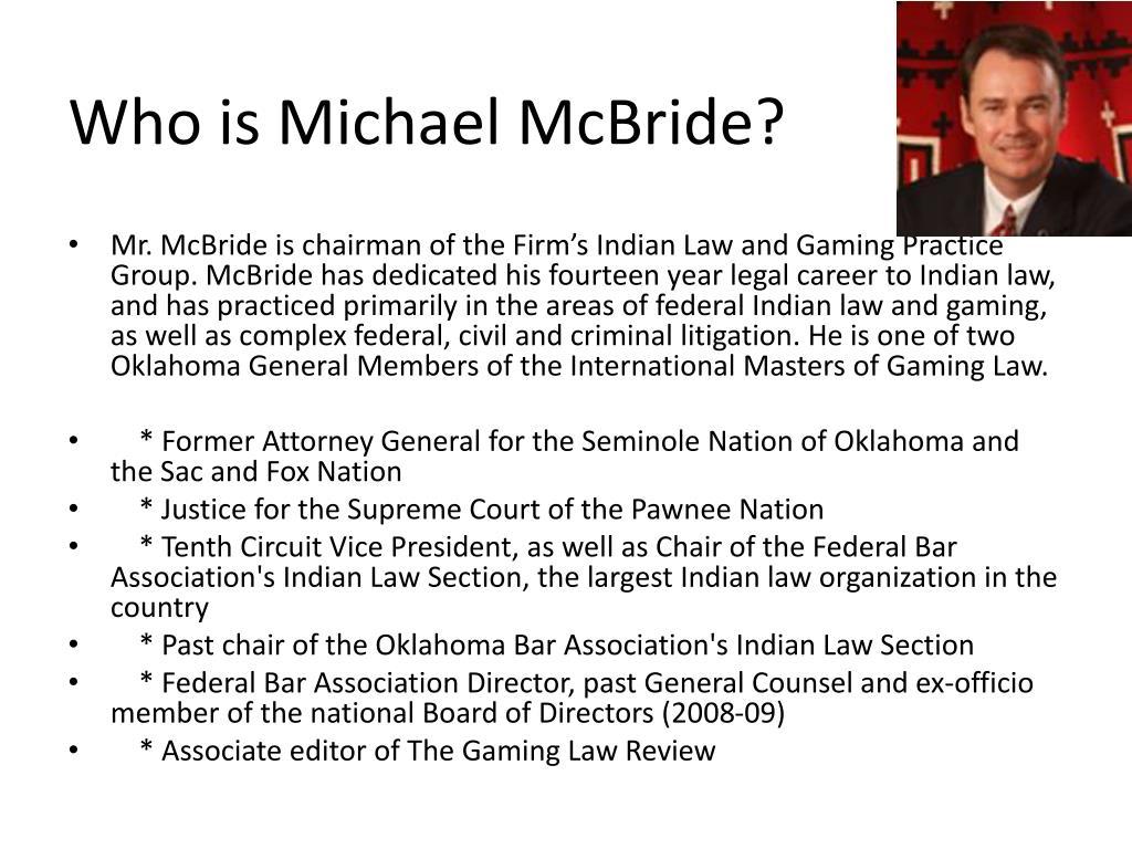 Who is Michael McBride?