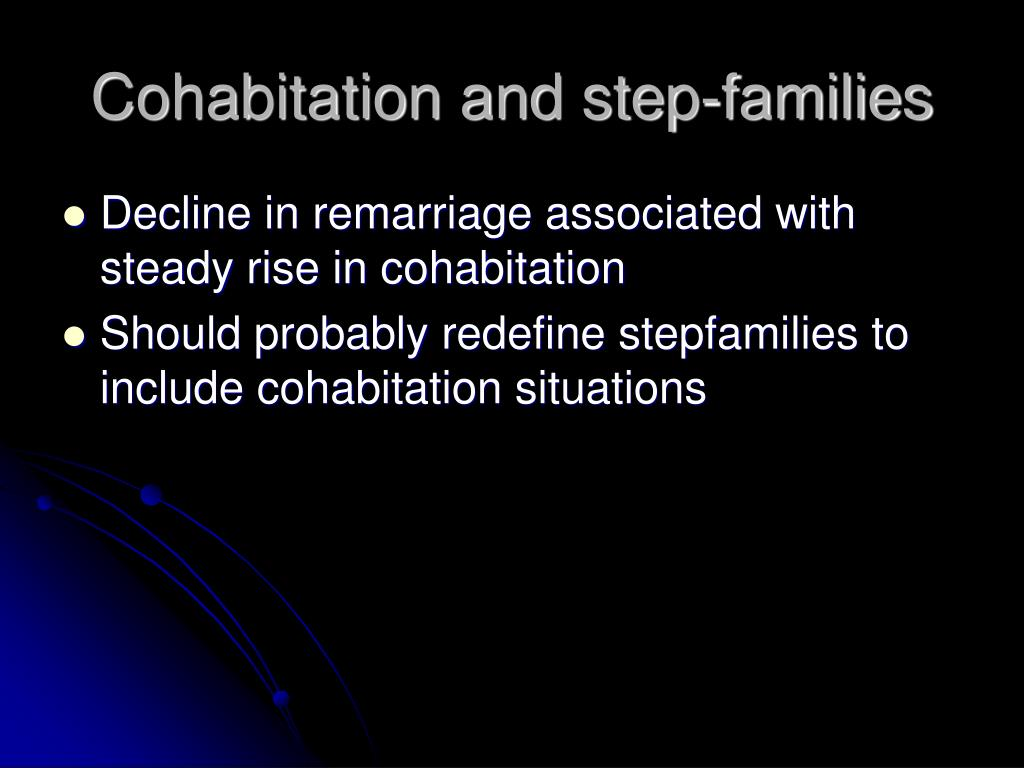 Cohabitation and step-families
