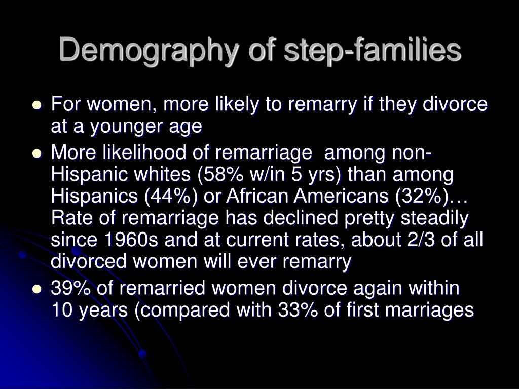 Demography of step-families
