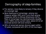 demography of step families
