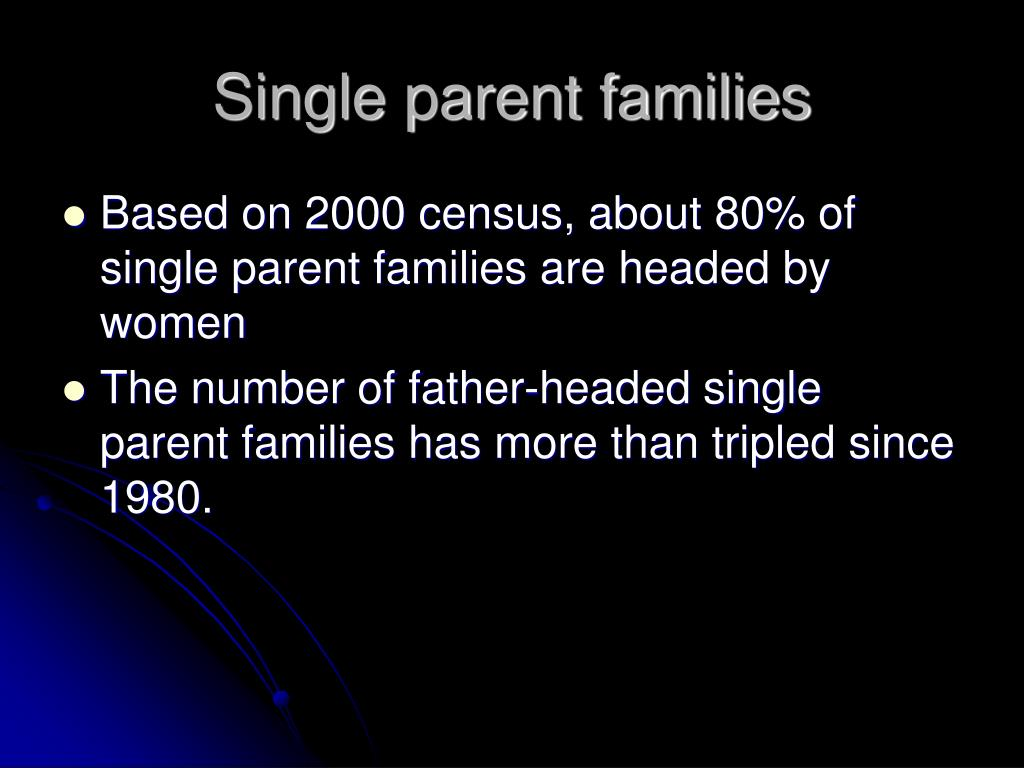 Single parent families