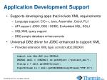 application development support