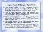 approaches to bridging the digital divide