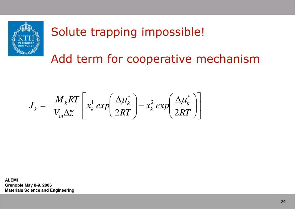 Solute trapping impossible!