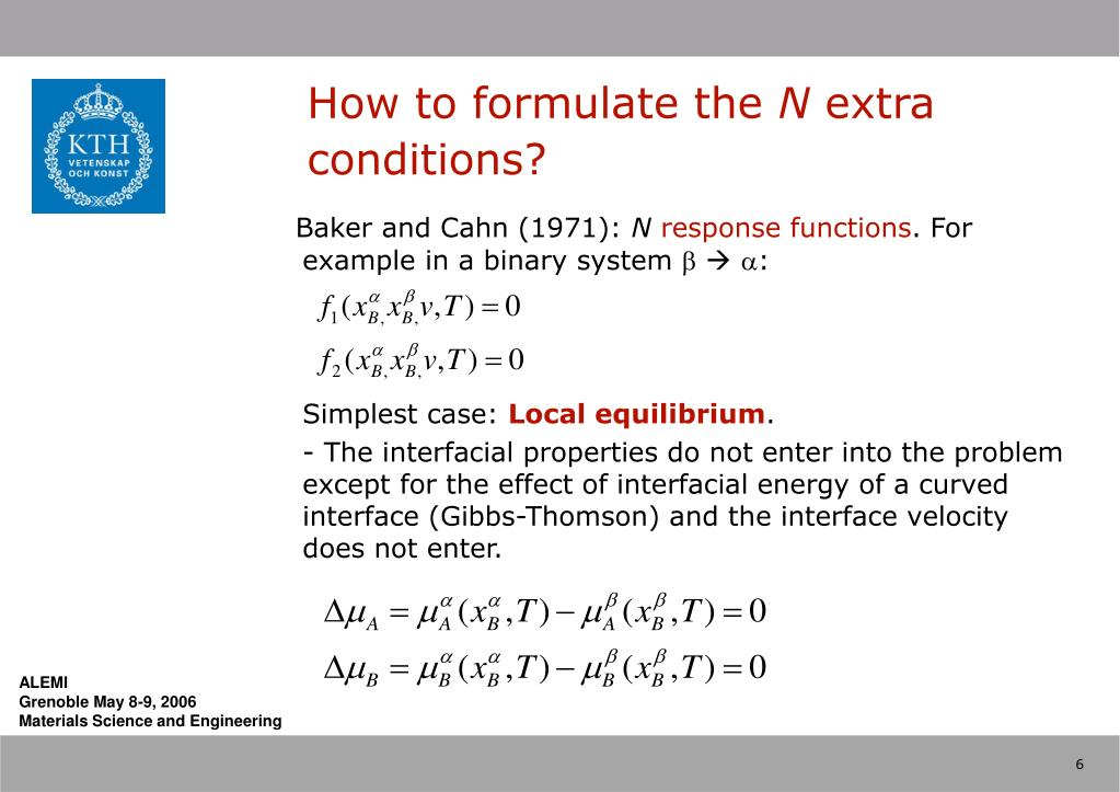 How to formulate the
