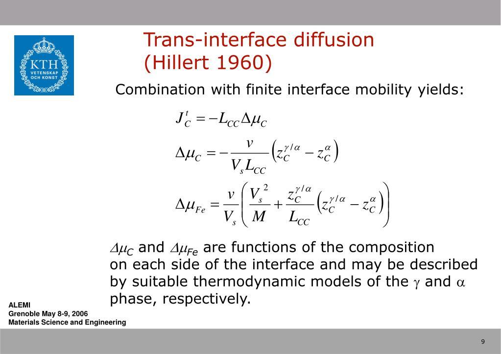 Trans-interface diffusion