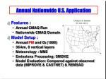 annual nationwide u s application