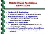 models 3 cmaq applications at epa oaqps