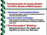 third generation air quality models u s epa s models 3 cmaq system