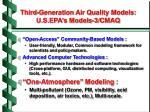 third generation air quality models u s epa s models 3 cmaq