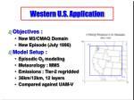 western u s application