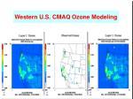 western u s cmaq ozone modeling