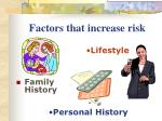 factors that increase risk