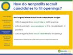 how do nonprofits recruit candidates to fill openings